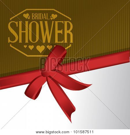 Bridal Shower Ribbon Gift Sign