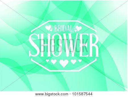 Bridal Shower Sign Illustration Design Green