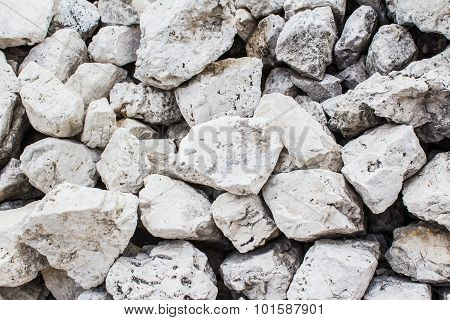Background Of White Stones