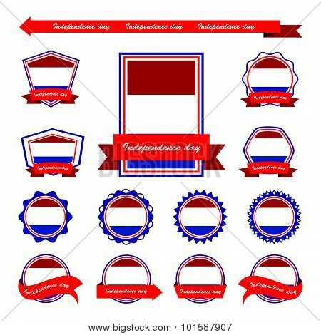 Netherlands Independence Day Flags Infographic Design