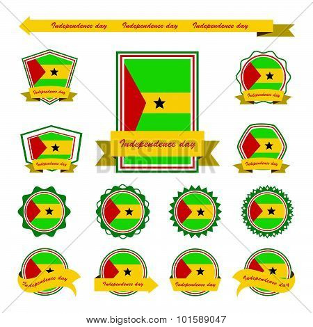 Sao Tome And Principe Independence Day Flags Infographic Design