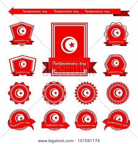 Tunisia Independence Day Flags