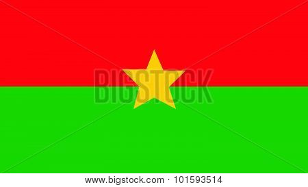 Burkina Faso Flag For Independence Day And Infographic Vector Illustration.
