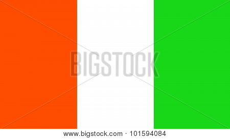 Cote D'ivoire Flag For Independence Day And Infographic Vector Illustration.