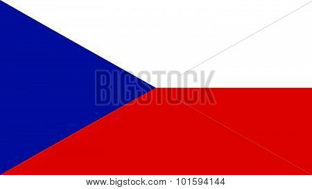 Czech Republic Flag For Independence Day And Infographic Vector Illustration.