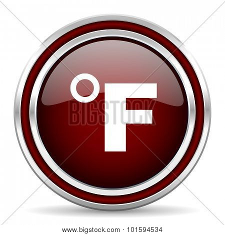 fahrenheit red glossy web icon
