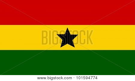 Ghana Flag For Independence Day And Infographic Vector Illustration.