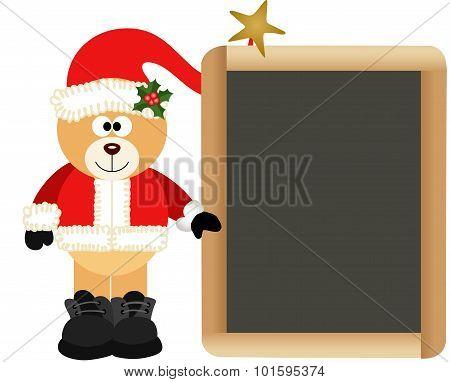 Teddy Bear Santa Claus with School Board