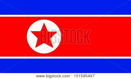 Korea North Flag For Independence Day And Infographic Vector Illustration.