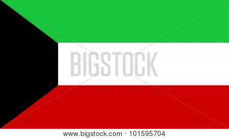 Kuwait Flag For Independence Day And Infographic Vector Illustration.