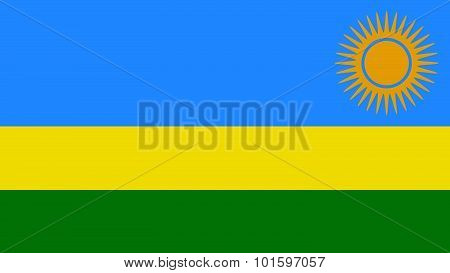 Rwanda Flag For Independence Day And Infographic Vector Illustration.