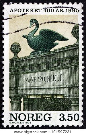 Postage Stamp Norway 1995 Swan Pharmacy, Bergen