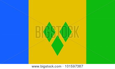 St Vincent & The Grenadines Flag For Independence Day And Infographic Vector Illustration.