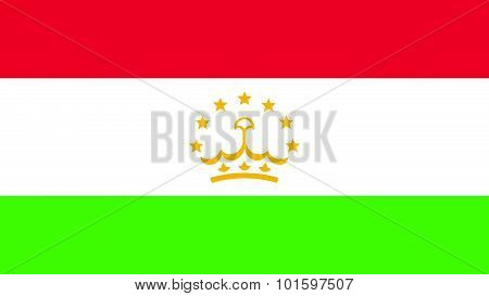 Tajikistan Flag For Independence Day And Infographic Vector Illustration.