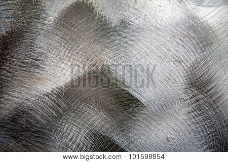 Brushed metal texture, closeup abstract background