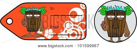 annoying tiki hawaiian mask cartoon giftcard
