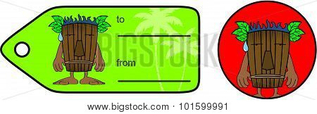 hawaiian mask cartoon giftcard