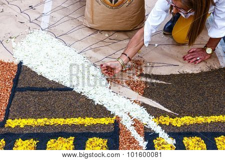 celebration of Corpus Christi, Tenerife, Spain