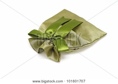 Small Fabric Pouch Isolated On White