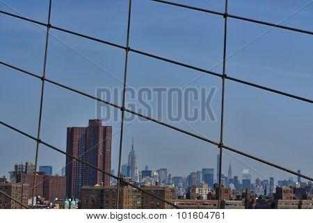 Bridge View of New York City