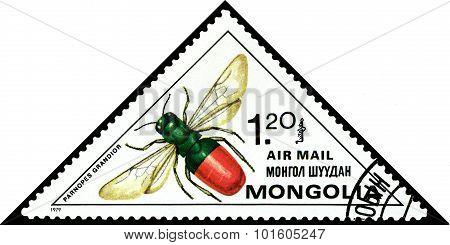 Vintage  Postage Stamp. Rubi Tail.