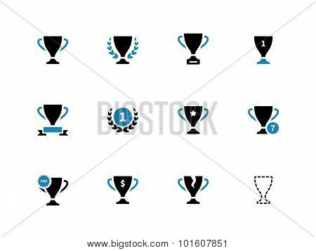 Cup duotone icons on white background.
