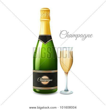 Champagne Realistic Set