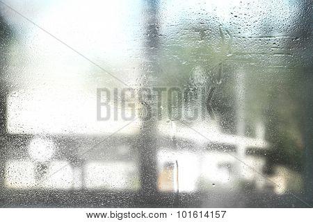 Misted window background