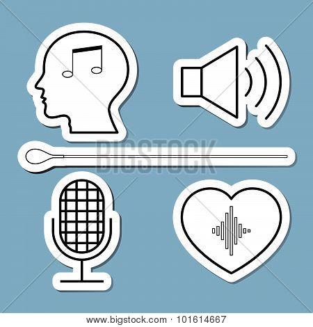 Music Line Icon Set