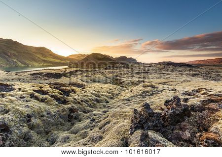 Sunset Over Reykjanes