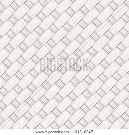 Gray Bamboo Weave Texture And Background Vector