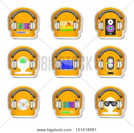 Headphones Stickers
