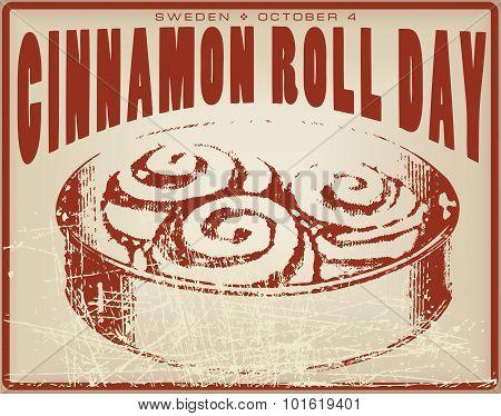 Cinnamon Roll Day Vintage Card