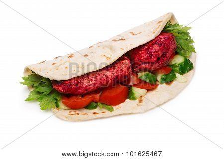 Tikka Masala Naan Sandwich