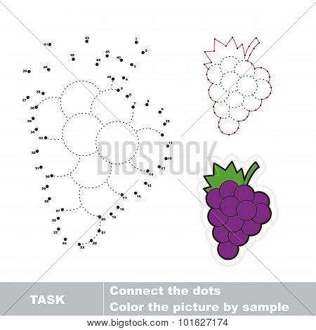 Game for numbers. Cartoon grapes.