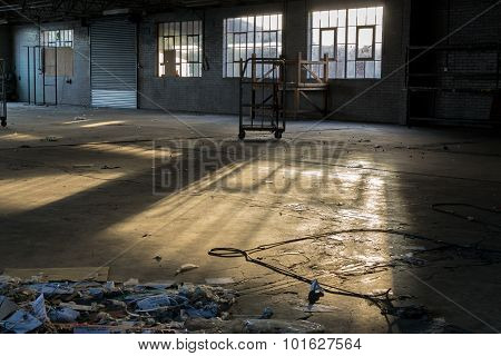 Rundown And Deserted Factory In A State Of Decay
