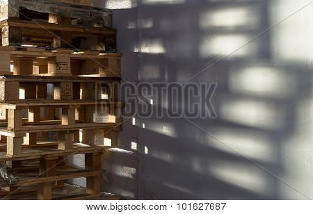 Stack Of Wooden Storage Pallets