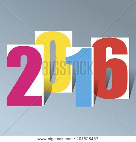 2016 Creative Happy New Year Background