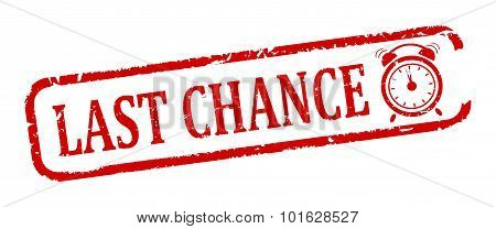Red Oval Stamp - Last Chance