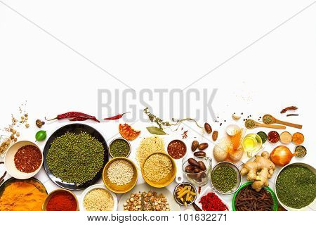Spices And Grain For Health.