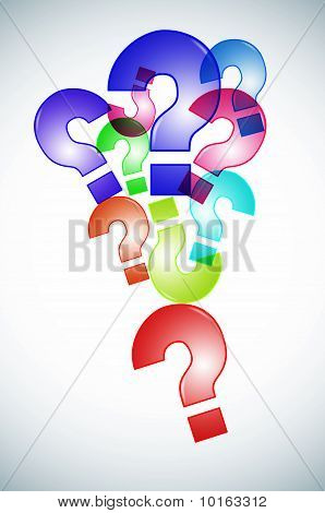 Question Marks Background