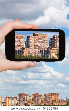 Picture Of Residential District On Smartphone