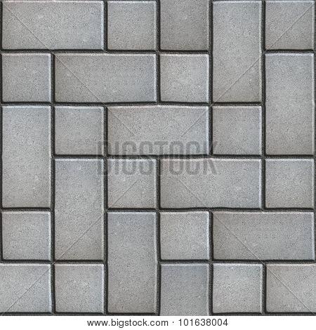 Gray Paving  Slabs Imitates Natural Stone.