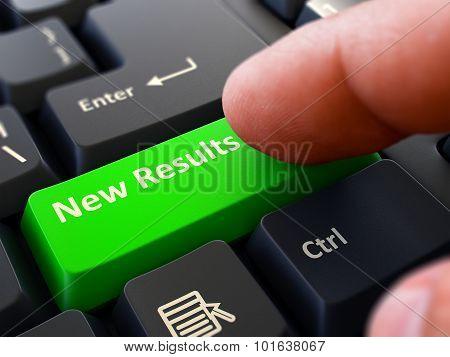 New Results - Written on Green Keyboard Key.