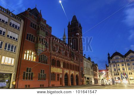 Basel Town Hall In Switzerland