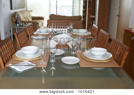 Dining Room With Table Setting