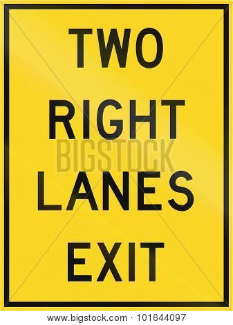 Two Right Lanes Exit In Canada