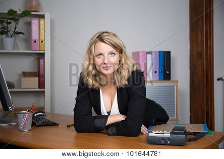 Lovely business woman at work