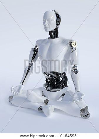 Robot Man Meditating Nr 2.