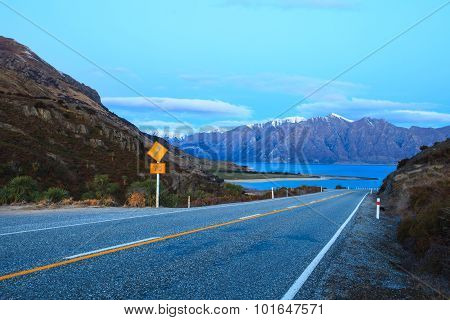 Beautiful Scenic Of Lake Hawea In South Island New Zealand Once Of Destination To Journey And Visiti